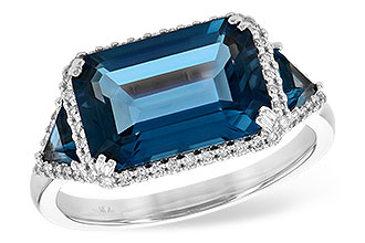 A217-65863: LDS RG 4.60 TW LONDON BLUE TOPAZ 4.82 TGW
