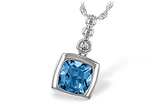 B216-77681: NECK 1.45 BLUE TOPAZ 1.49 TGW