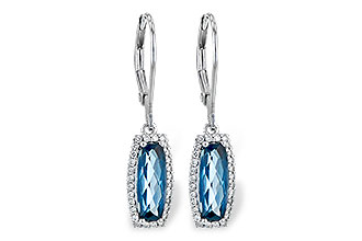 D217-69490: EARR 2.10 LONDON BLUE TOPAZ 2.28 TGW