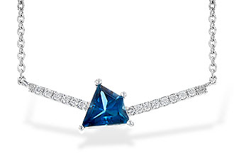 D217-70381: NECK .87 LONDON BLUE TOPAZ .95 TGW
