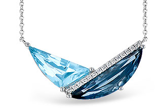 E300-39517: NECK 4.66 BLUE TOPAZ 4.75 TGW