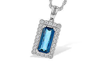 G217-71290: NECK 1.55 LONDON BLUE TOPAZ 1.70 TGW