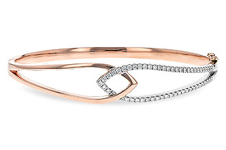 M216-80444: BANGLE BRACELET .50 TW (ROSE & WG)